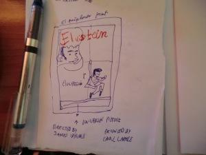 Primer boceto  con anotaciones